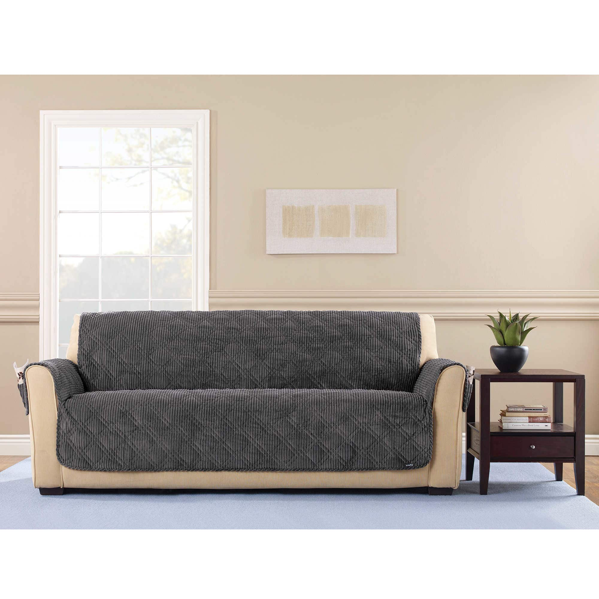 Sure Fit  Wide Wale Corduroy Sofa Throw Furniture Protector