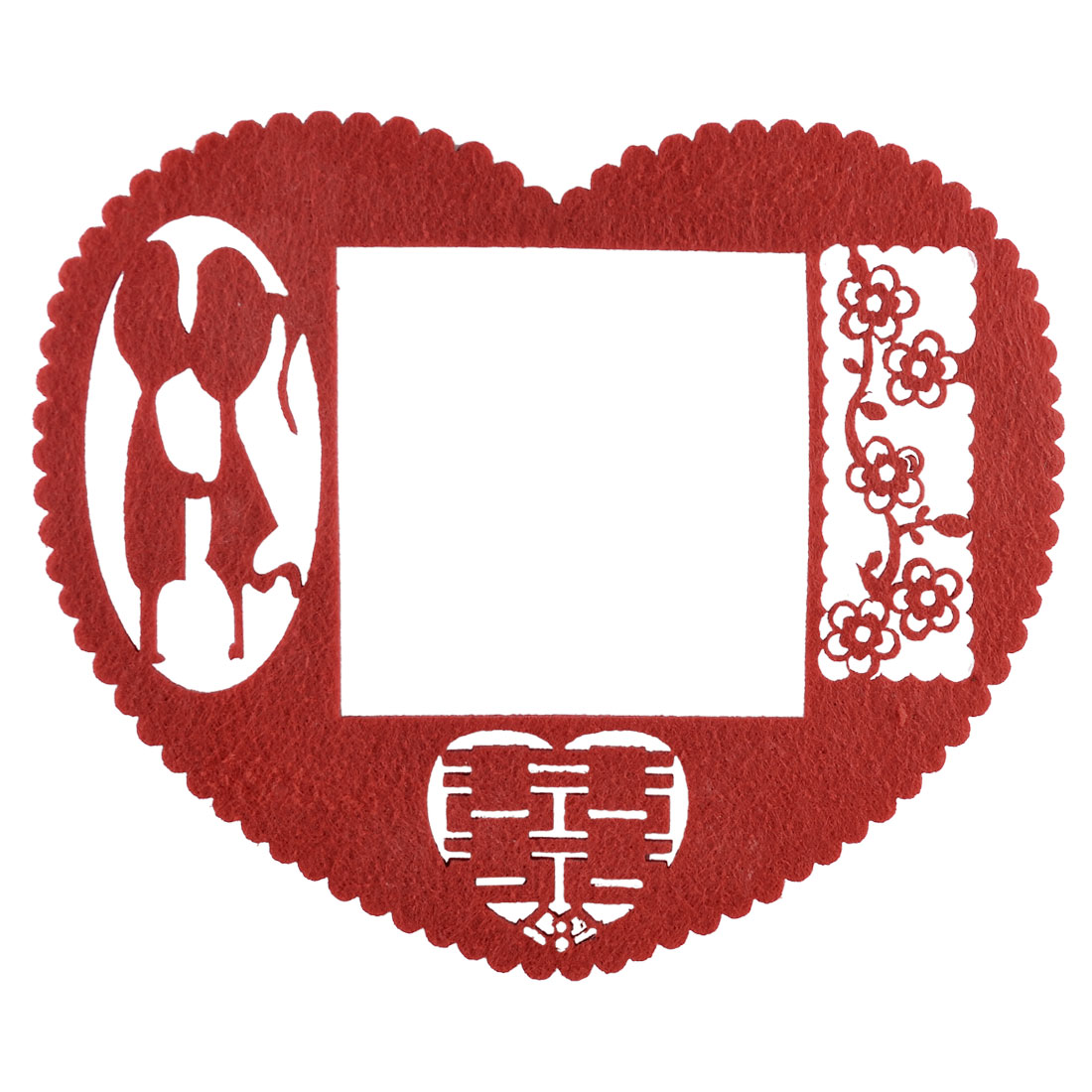 Unique Bargains Red Heart Shape Lovers Flower Pattern Chinese Paper Cutting Switch Cover