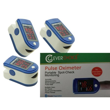 Clever Choice Pulse Oximeter Blood Oxygen Level Monitor with large 7-Segment Display-