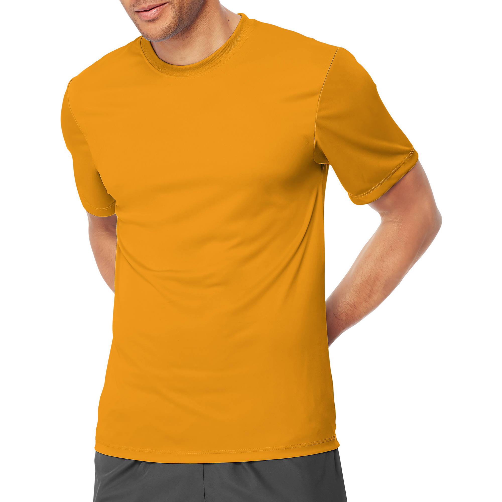 Hanes Mens Short Sleeve CoolDRI Performance T-Shirt -Gold 2XL