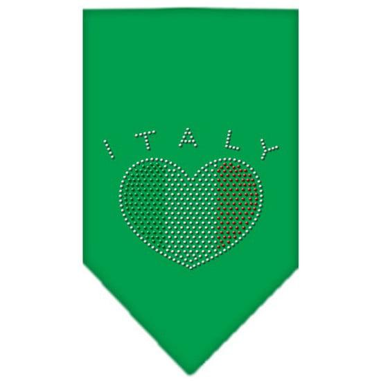 Italy Rhinestone Bandana Emerald Green Large