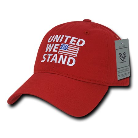 Rapid Dominance United We Stand USA American Flag Baseball Dad Caps Hats  Washed Cotton Polo