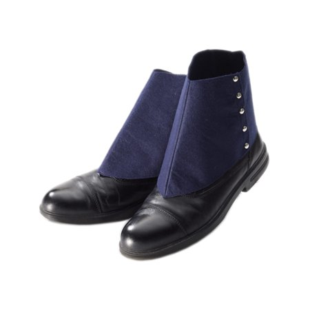 Adult Roaring 20s Gangster Cowboy Navy Blue Fabric Spats Shoe Covers
