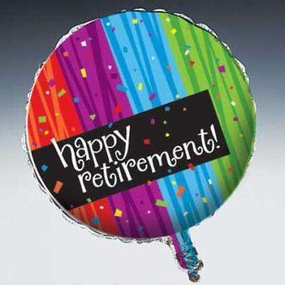 Milestone Celebration Happy Retirement Foil Balloon, 4PK (Retirement Balloons)