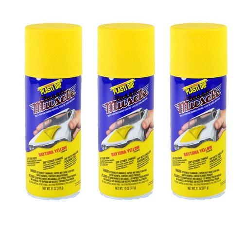 Performix Plasti Dip Muscle Car 11305 Daytona Yellow Rubber Spray 3 PACK