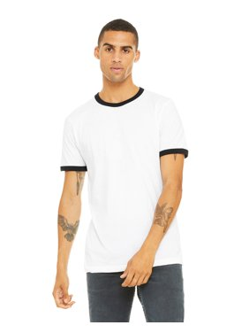 Bella + Canvas Men's Jersey Short-Sleeve Ringer T-Shirt