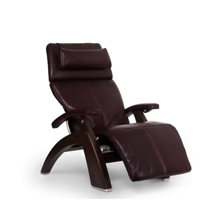 Human Touch Pc 610 Omni Motion Perfect Chair Series 2 Power Recline Dark Walnut Wood Base Zero Gravity Recliner   Burgundy Premium Leather