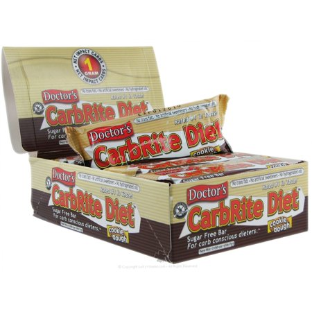 Diet Bar Cookie - Universal Nutrition, Doctor's CarbRite Diet, Sugar Free, Cookie Dough, 12 Bars, 2 oz (56.7 g) Each(pack of 6)