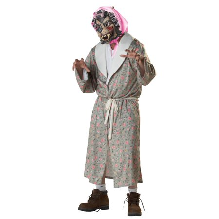 Totally Ghoul Adult Mens & Womens Wolf Granny with Costume Big Bad Wolf Mask
