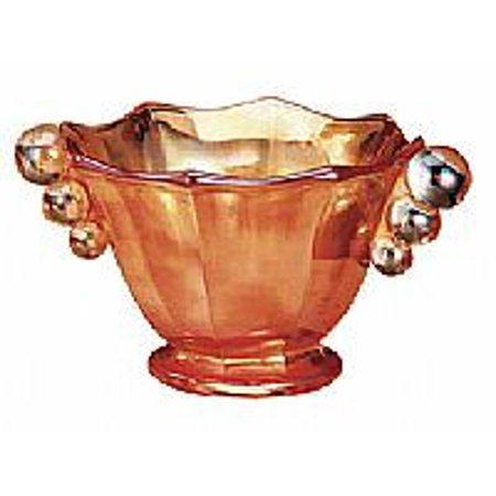 - Fenton Art Glass 43885J Golden Orchids on Marigold Panel and Ball Nut Dish