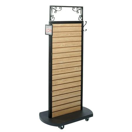 Oak Caramel (Slatwall Rolling Merchandiser  (Caramel Oak) - 32