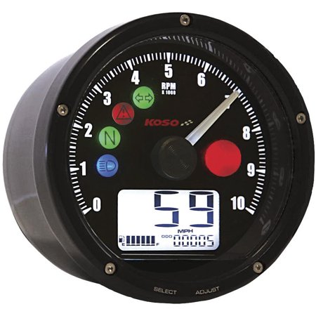 Slipstreamer BA035K00-HD TNT-01 Universal Tach/Speedo Combo - Black Face