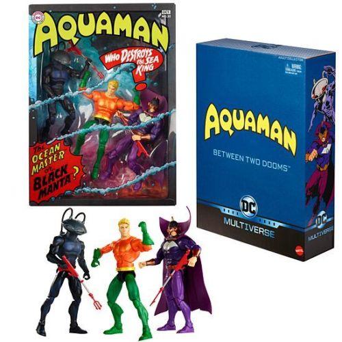 SDCC 2018 Mattel DC Comics Multiverse Aquaman Between Two Dooms Figures 3-Pack by