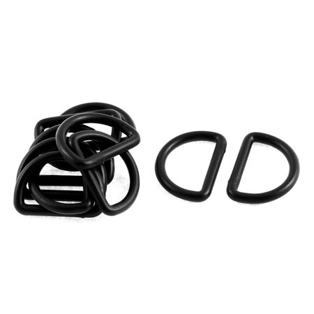 Backpack Bag D Ring Buckles Black 2.5cm Inside Diameter 10Pcs - Ring Bearer Backpack