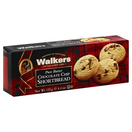 Walkers Pure Butter Shortbread Cookies, Chocolate Chip, 4.4 Oz