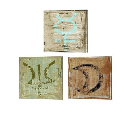 Metaverse Sia Aryai 'The Deities' Canvas Art (Set of (Sia Art Jewelry)