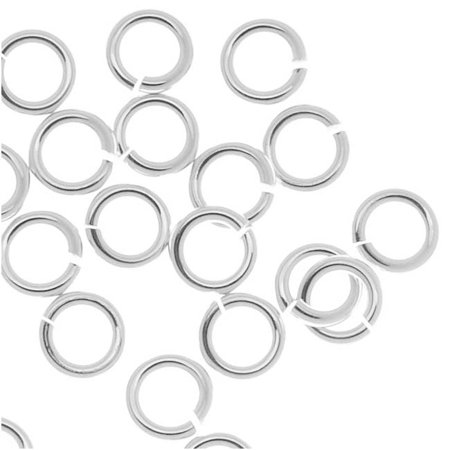 Beadaholique 20-Piece Sterling Jump Lock Rings, 4mm, 20-Gauge, Silver ()