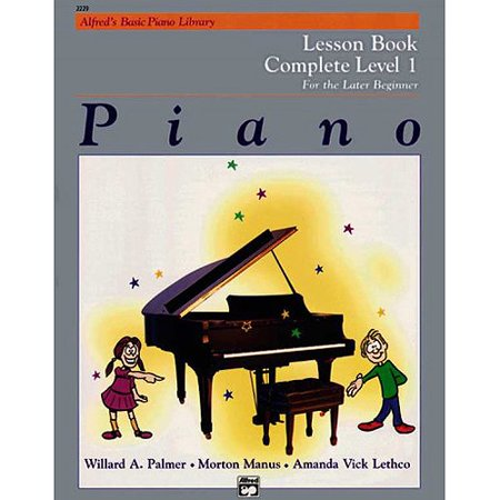 Alfred's Basic Piano Library Piano: Lesson Book Complete Level 1 for the Later Beginner - Beginner Level