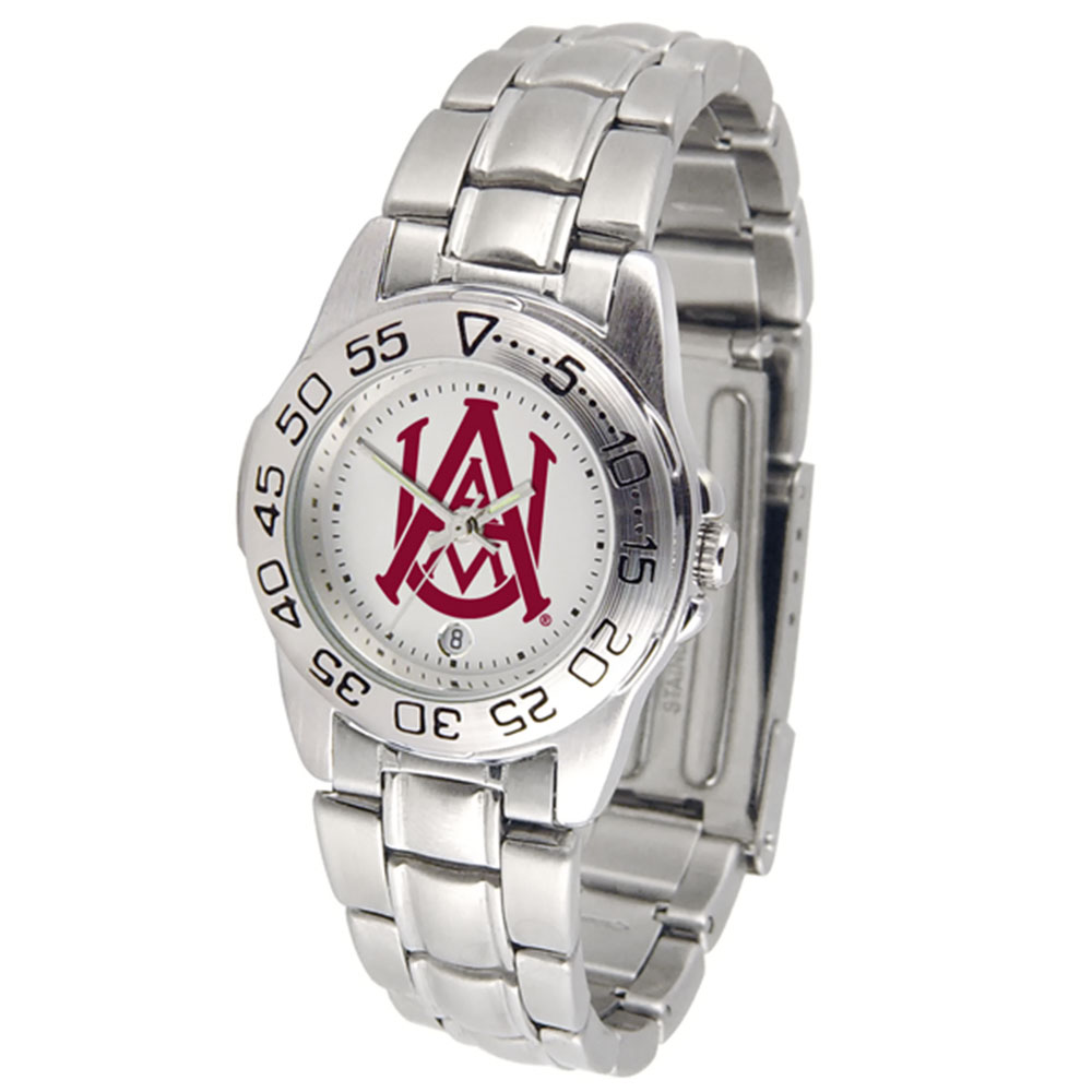 "Alabama A&M Bulldogs NCAA ""Sport"" Women's Watch (Metal Band)"