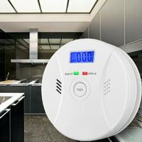 Amerteer 2 In 1 Carbon Monoxide&Smoke Alarm Smoke Fire Sensor Alarm CO Carbon Monoxide Detector Sound Combo Sensor Tester Battery Operated for Home
