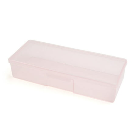 Pink Manicure Nails Pedicure Makeup Tool Organizer Storage Case Personal Box