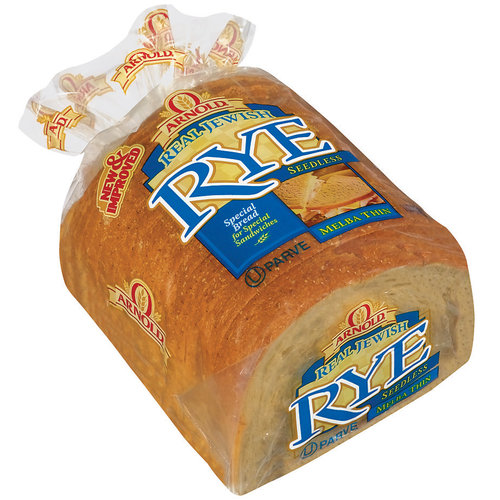Arnold Real Jewish Seedless Rye Bread, 16 oz