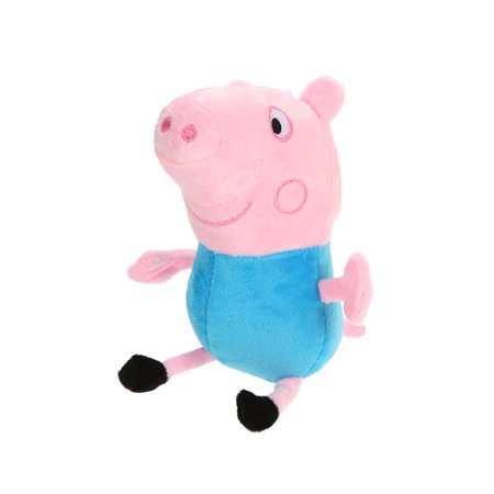 1Pc Cute Peppa Family Pig Plush Stuffed Toys with Lovely Handbag Family Party Dolls Kids Birthday Gifts ()