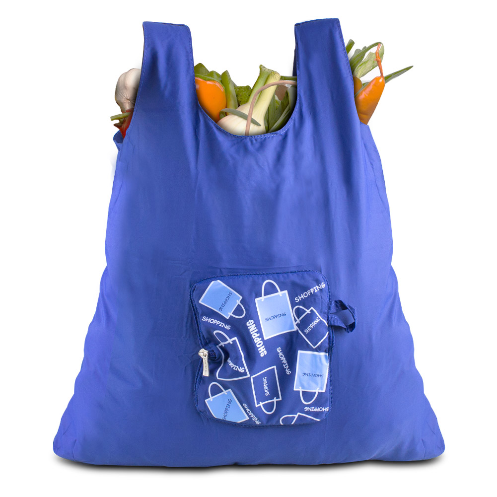 Travelon Pocket Packs Shopping Bag, Blue