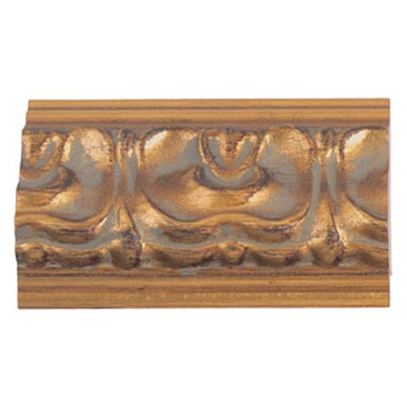 Picture Frame Moulding (Wood) - Ornate Gold Finish - 2