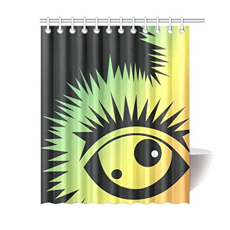 SUTTOM Fussy Monster Bathroom Shower Curtain 60x72 inch - image 1 de 1