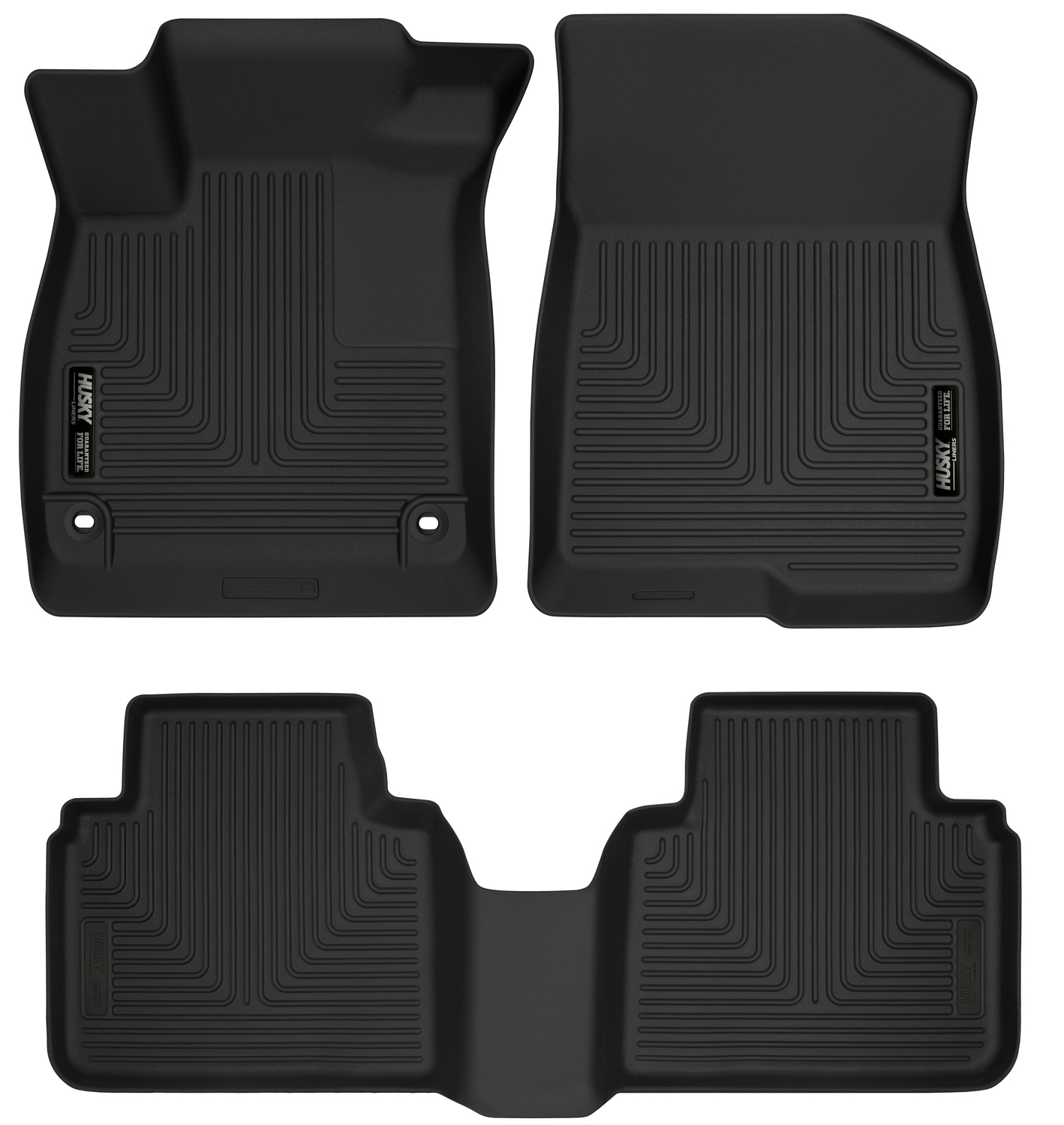 Husky Liners 95741 Black Front Floor Liners Fits 18-18 Accord