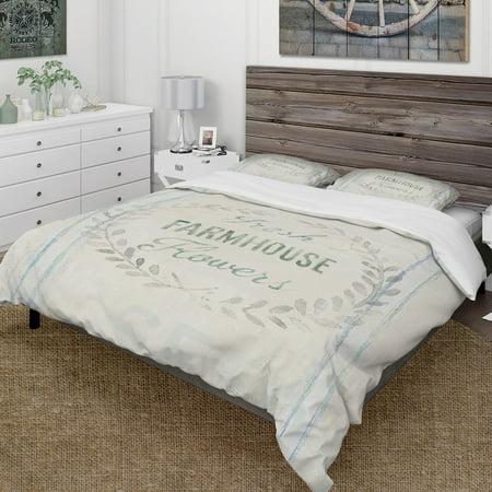 Designart 'farmhouse Florals Viii' Farmhouse Bedding Set   Duvet Cover & Shams By Design Art by Design Art