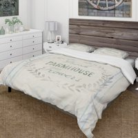 DESIGN ART Designart 'Farmhouse Florals VIII' Farmhouse Bedding Set - Duvet Cover & Shams
