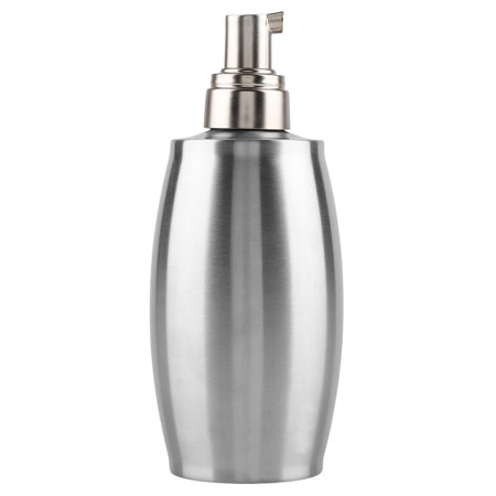 Ejoyous 350ml Stainless Steel Foam Soap Lotion Dispenser Liquid Pump Bottle for Kitchen Bathroom, Stainless Steel Soap Pump Bottle, Stainless Steel Soap Dispenser