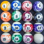 Felson Billiard Supplies Marbled Pool Ball Set