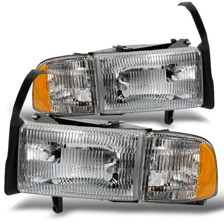 Fit 94 02 Dodge Ram Pickup Truck Headlights Headlamps W Corner