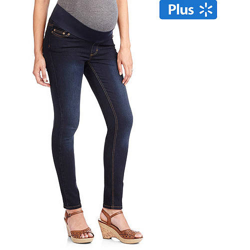 Demi-Panel Super Soft Skinny Maternity Jeans -- Available in Plus Sizes by