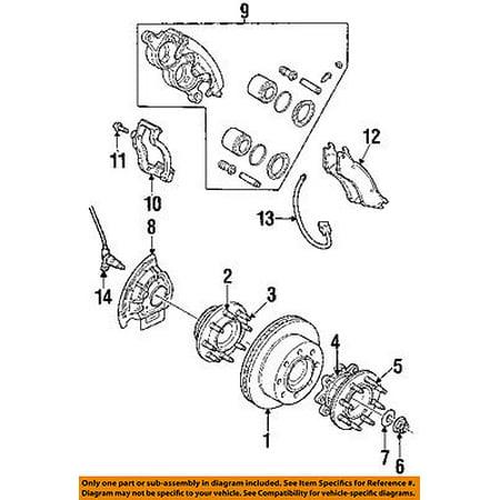 Front Brake Plate (Dodge CHRYSLER OEM Disc Brake-Front-Backing Plate Dust Splash Shield 5015128AA )