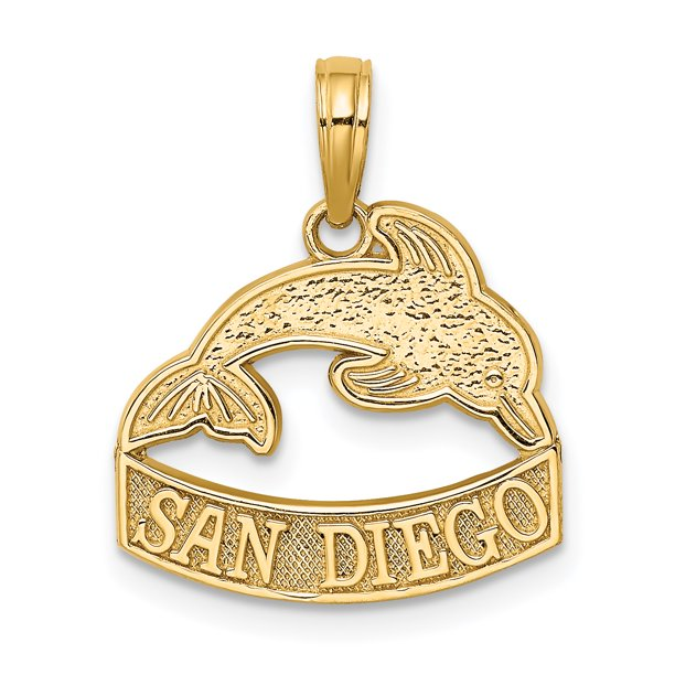 Jewelry Stores Network - 14k Yellow Gold San Diego Words ...
