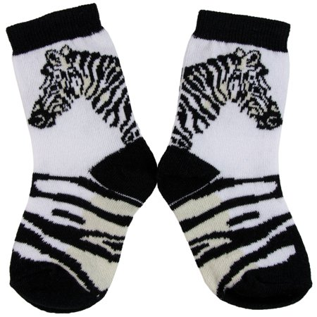 Zebra Head & Stripe Youth Socks