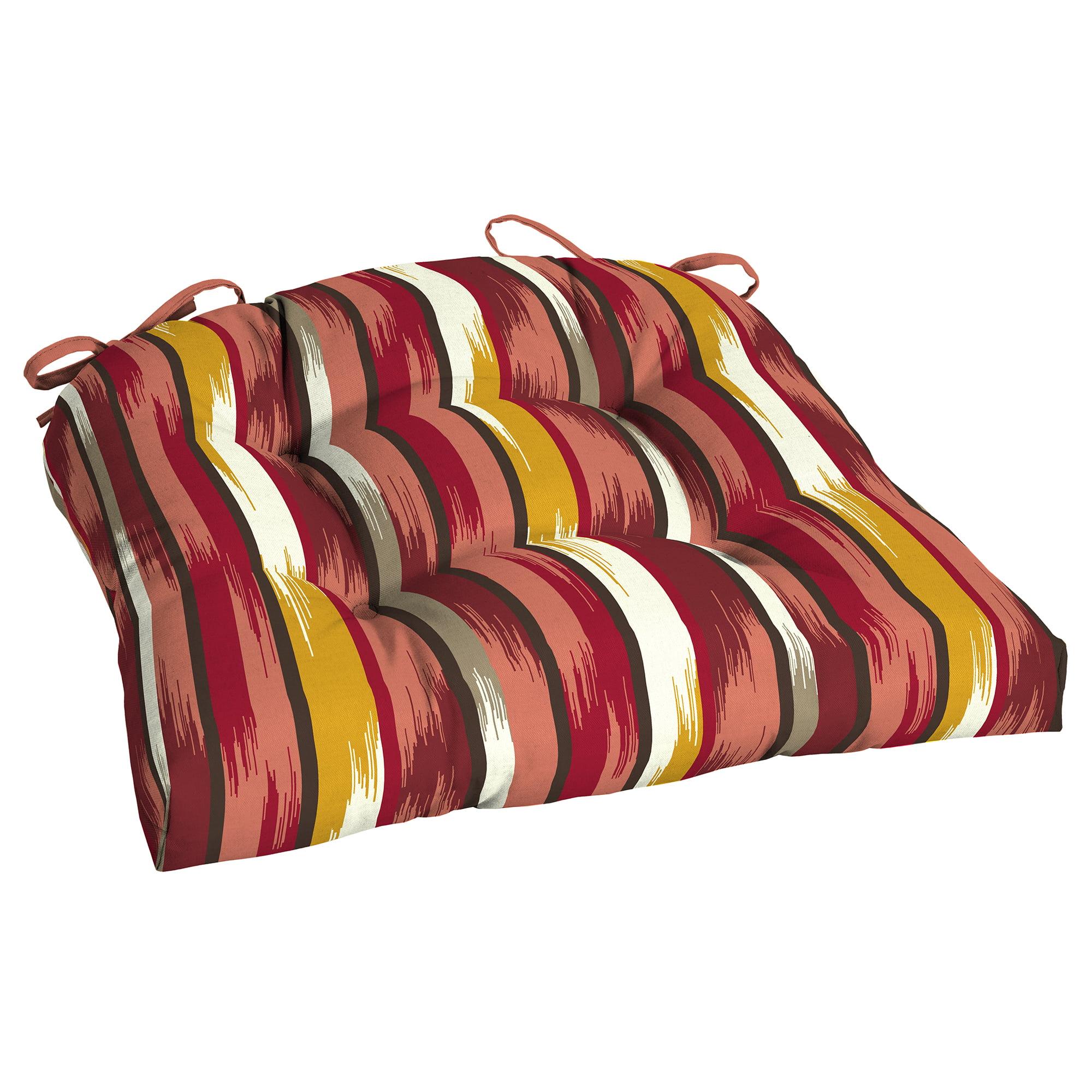 Mainstays Ombre Stripe Outdoor Patio Wicker Seat Cushion - Single