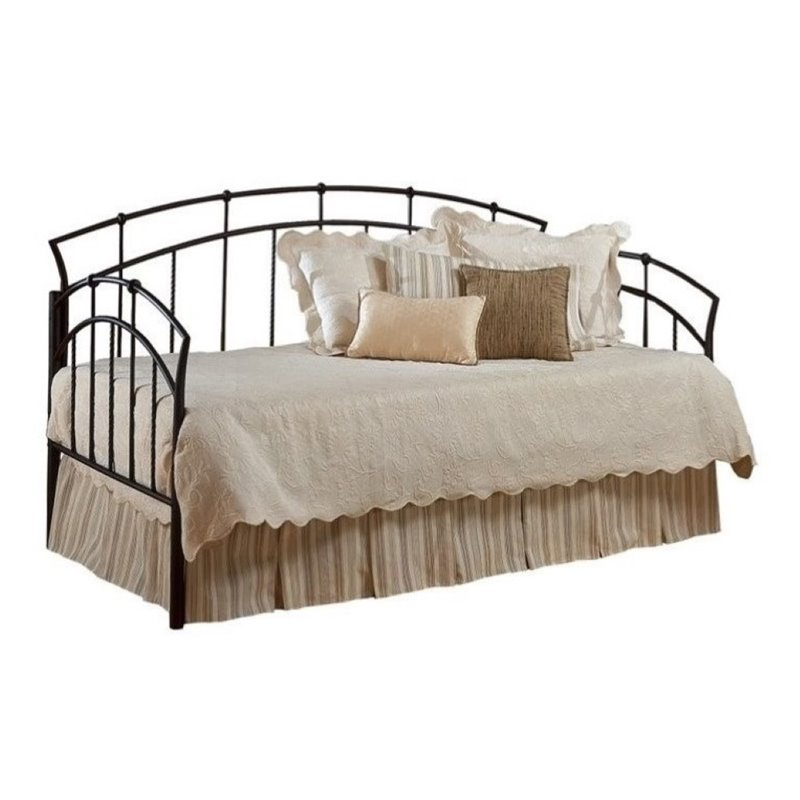 Bowery Hill Twin Metal Daybed in Antique Brown