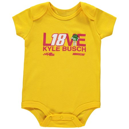 Kyle Busch Joe Gibbs Racing Team Collection Girls Newborn & Infant Bodysuit - Yellow