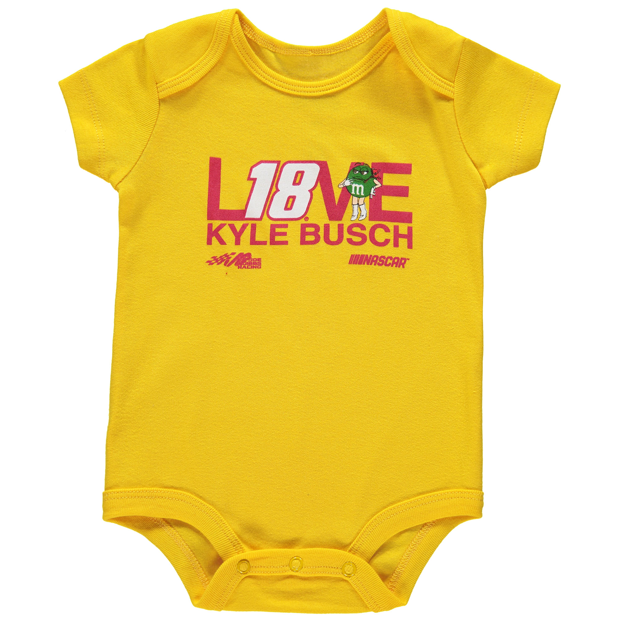 Kyle Busch Joe Gibbs Racing Team Collection Girls Newborn & Infant Bodysuit - Yellow