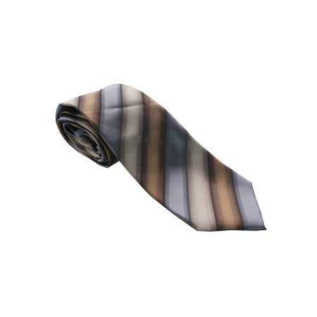 John Ashford Taupe Bryant Stripe Tie  Os (Ashford Stripes)