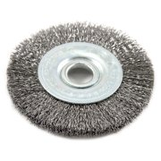 "3"" x .008"" Fine Crimped Wire Wheel Brush w/1/2"" Arbor Forney 72748 032277727489"