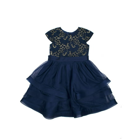 Wonder Nation Lurex Lace And Tulle Holiday Dress (Little Girls & Big Girls)