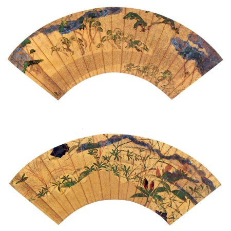 - Framed Art for Your Wall Tawaraya Sotatsu - folding fan 10 x 13 Frame
