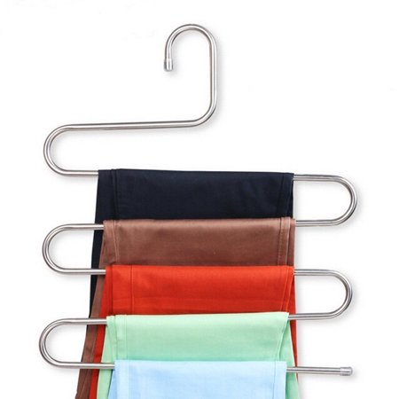 S Type Clothes Pants Trouser Hanger Multi Layers Storage