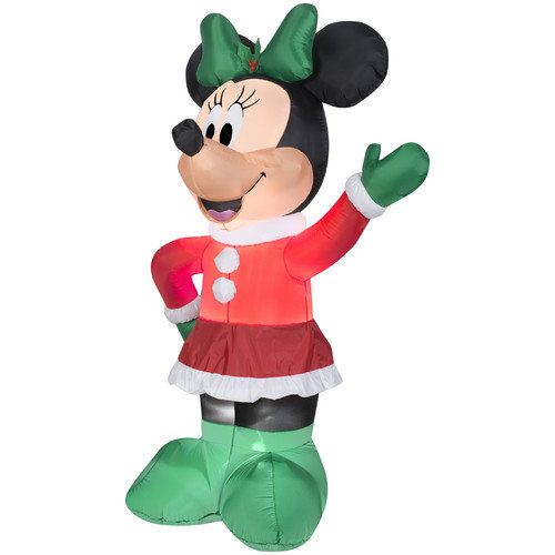Gemmy Industries Airblown Inflatables Christmas Holiday Minnie Decoration
